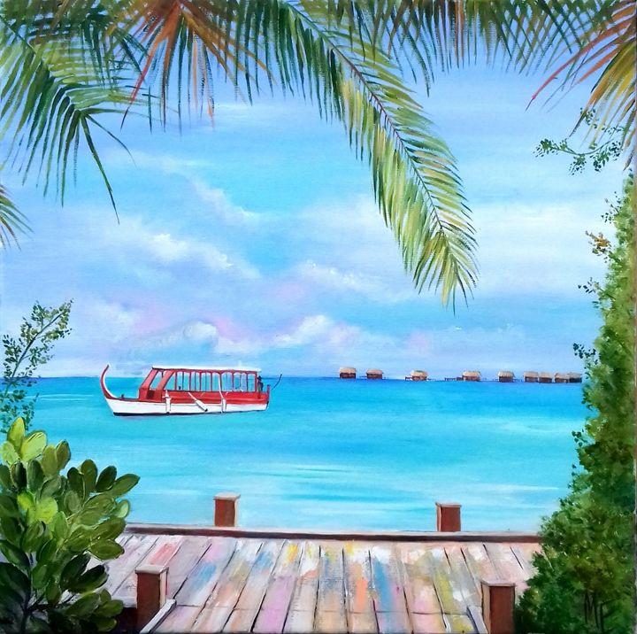 Window with a kind on paradise - Elena Artstyle