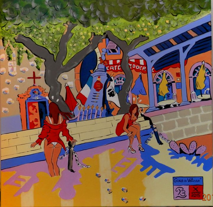 """""""Red girls in Valinco gulf"""" - PB"""