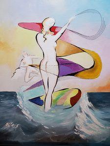 Surfer Lady