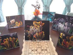 Acrylic Chain-String Flower Paintin