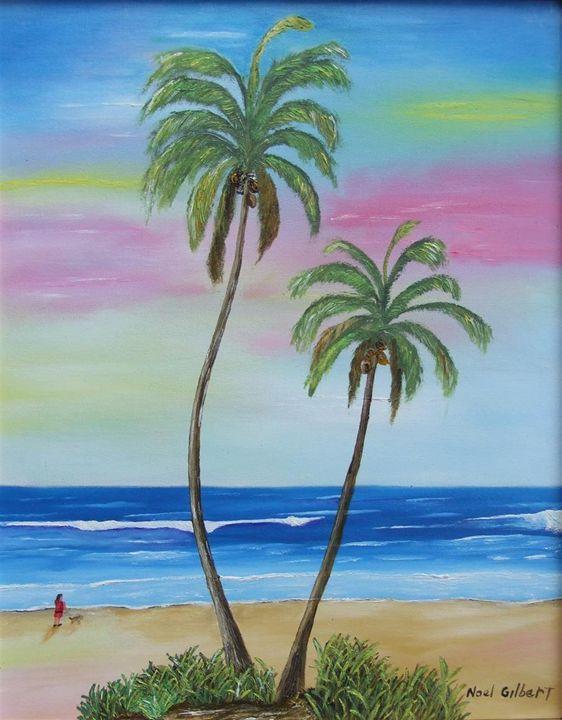 Walk along the Beach - Noel's ART Gallery