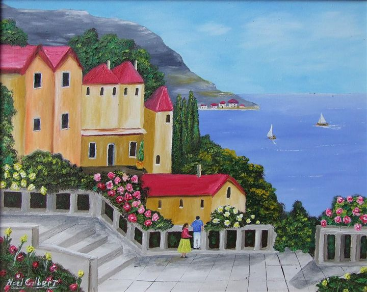 sails in the distance - Noel's ART Gallery