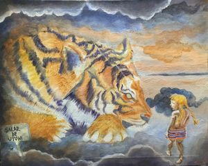 Self-Portrait with Tiger