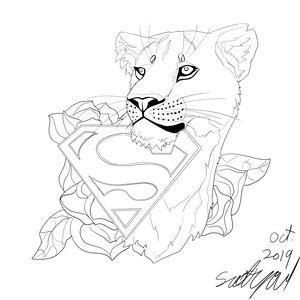 Supergirl lioness design