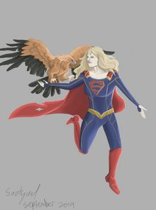 Supergirl and Golden Eagle