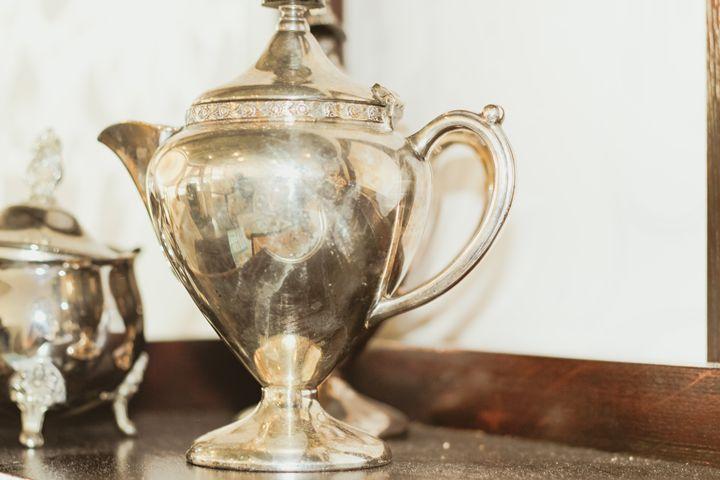 Shiny Diamond Silver Teapot - Lou Moon