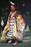 Original painting of buckskin dancer