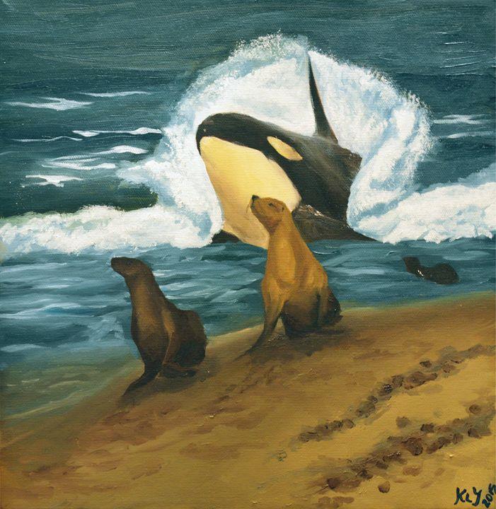 Orca Peekaboo - Kylo Art