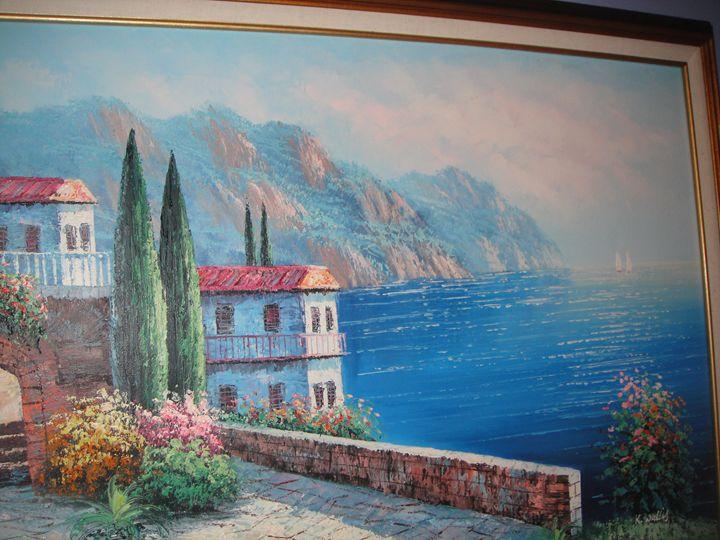 Italian coastline by kent wallis - Karen Schenzel
