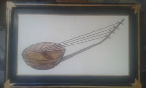 African instrument Collage