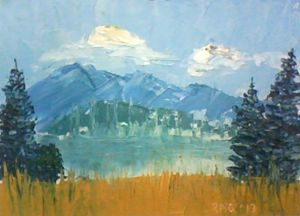 My mountain impressionistic