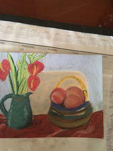 Antherium still life - Francetta's Art