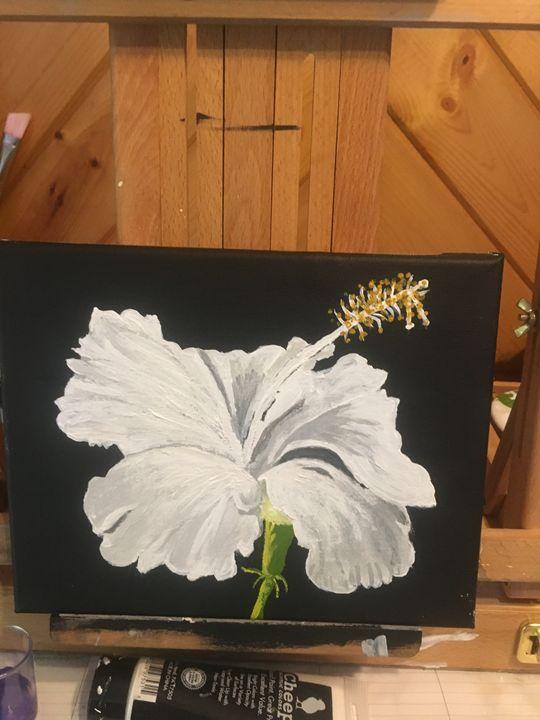 White Hibiscus - Francetta's Art