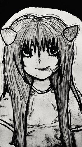 Creepy Anime Girl - Kylie's Art