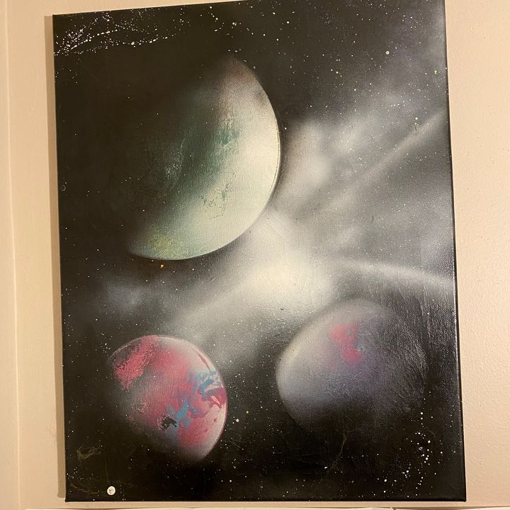 Three Planets - Spaced Kase creations