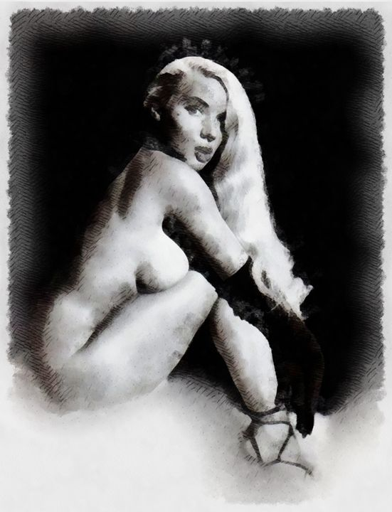 Burlesque Pinup by Frank Falcon - Esoterica Art Agency