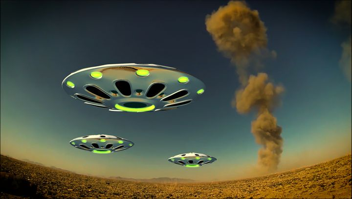 Alien Invasion - Esoterica Art Agency