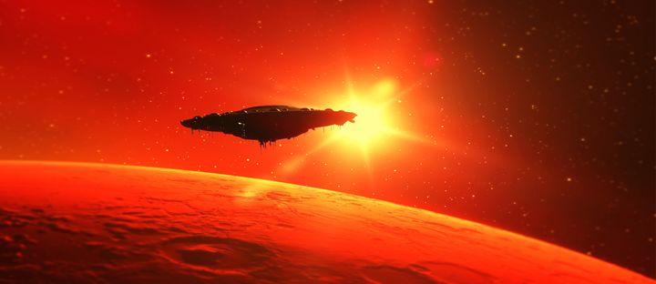 Martian Voyage by Raphael Terra - Esoterica Art Agency