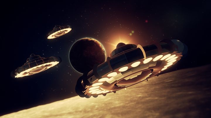 UFO Invasion Force by RT - Esoterica Art Agency