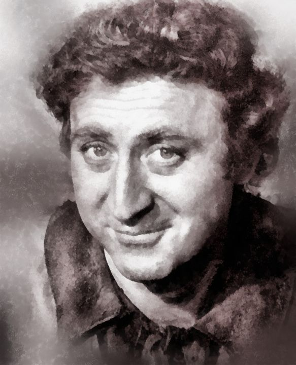 Gene Wilder Hollywood Icon by JS - Esoterica Art Agency