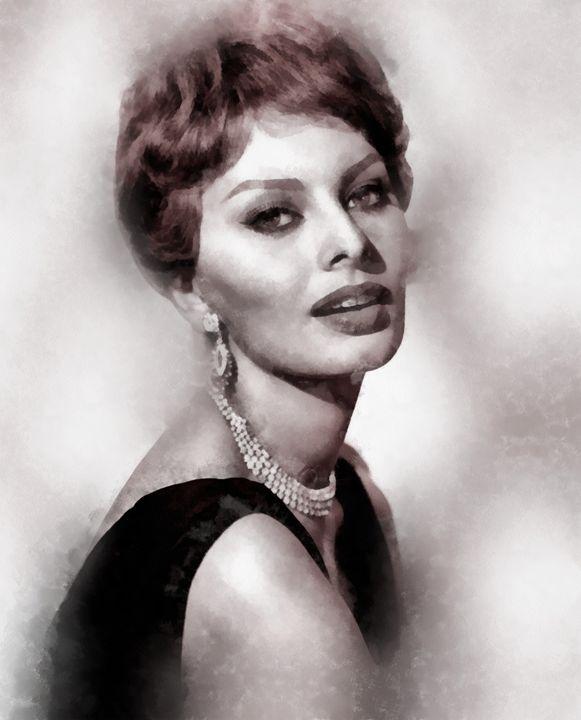 Sophia Loren by John Springfield - Esoterica Art Agency