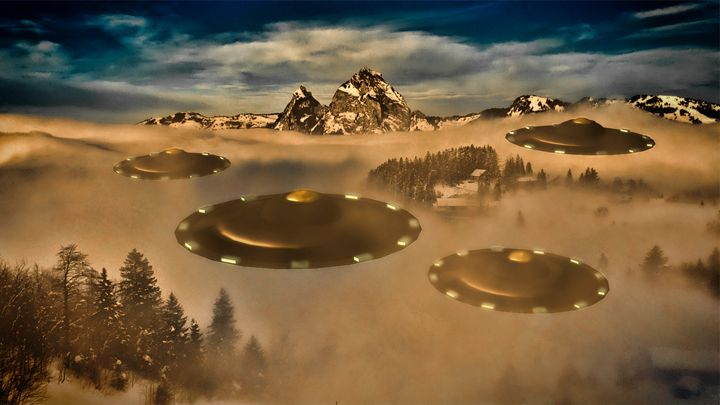 UFO Invasion Force by Raphael - Esoterica Art Agency