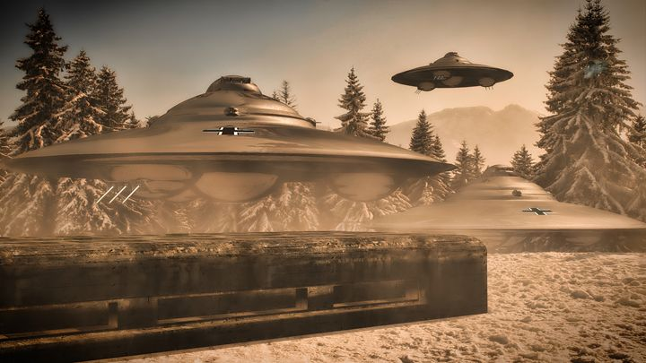 German WWII UFO by Raphael - Esoterica Art Agency