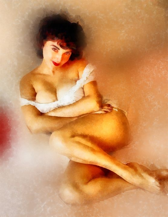 Vintage Pinup by Frank Falcon - Esoterica Art Agency