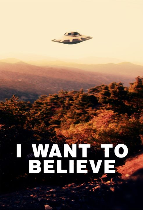 I Want to Believe by Raphael Terra - Esoterica Art Agency