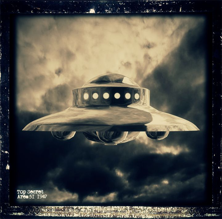 Top Secret Area 51 by RT - Esoterica Art Agency