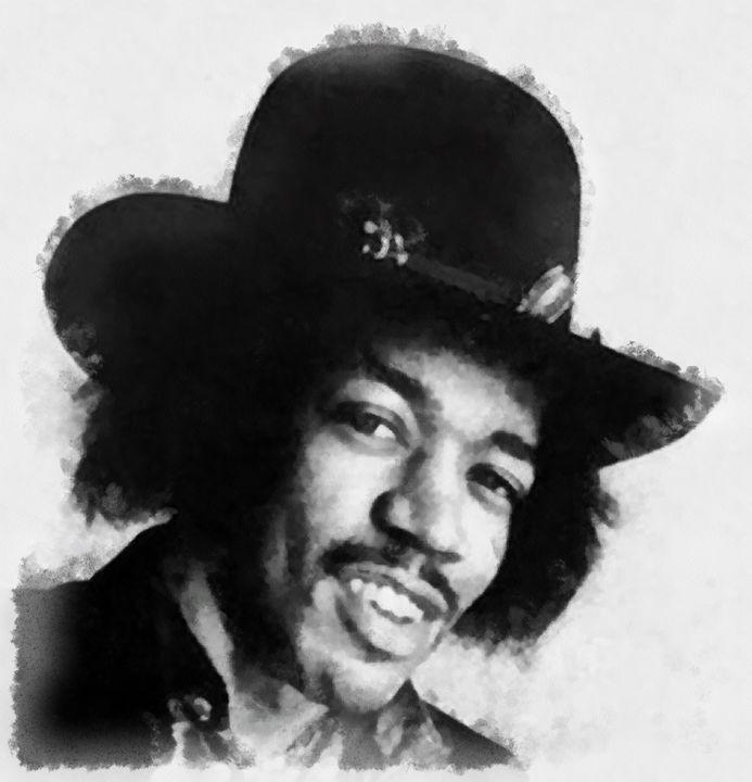 Jimi Hendrix by John Springfield - Esoterica Art Agency