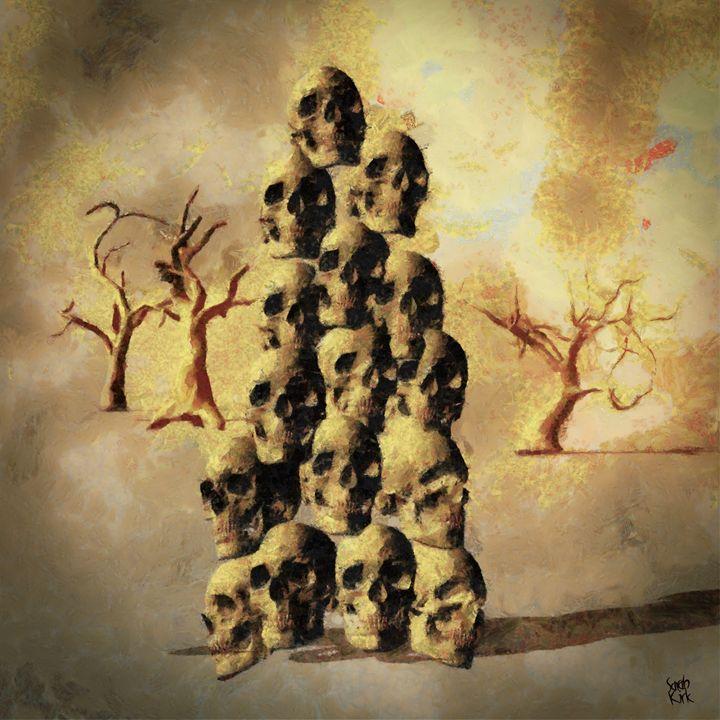 Pile of Skulls by Sarah Kirk - Esoterica Art Agency