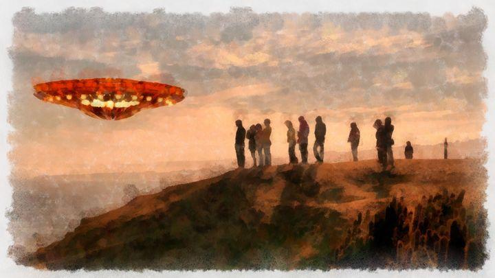 UFO Spotters by Raphael Terra - Esoterica Art Agency