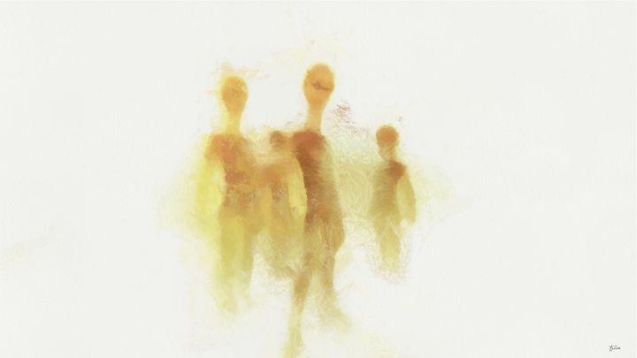Aliens on White by Raphael Terra - Esoterica Art Agency