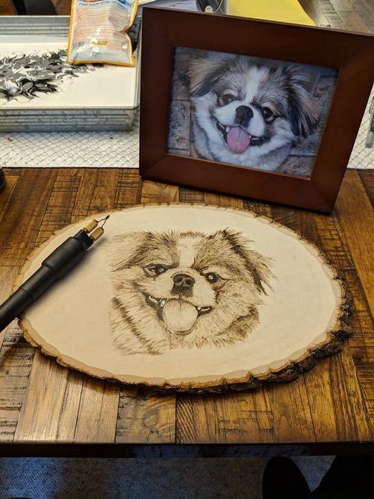 Dog portraits - Burnt Image