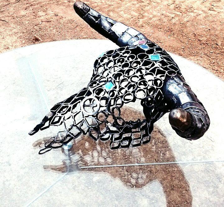 Metal skull - JW Mcbride Western Art