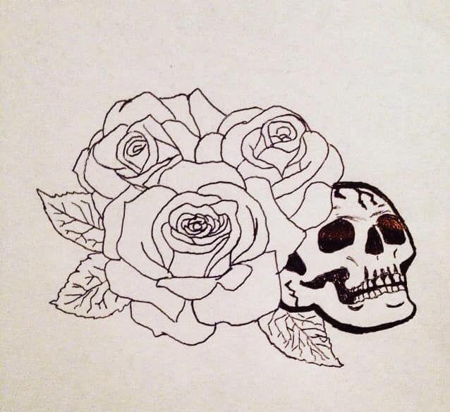 Skull & Roses - Courtney Catron
