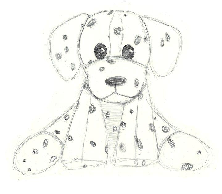 f778b23b017e hand drawn dalmatian stuffed animal - CharmedPix - Drawings ...