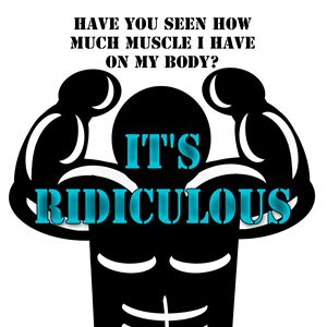 muscles so strong, funny digital - CharmedPix