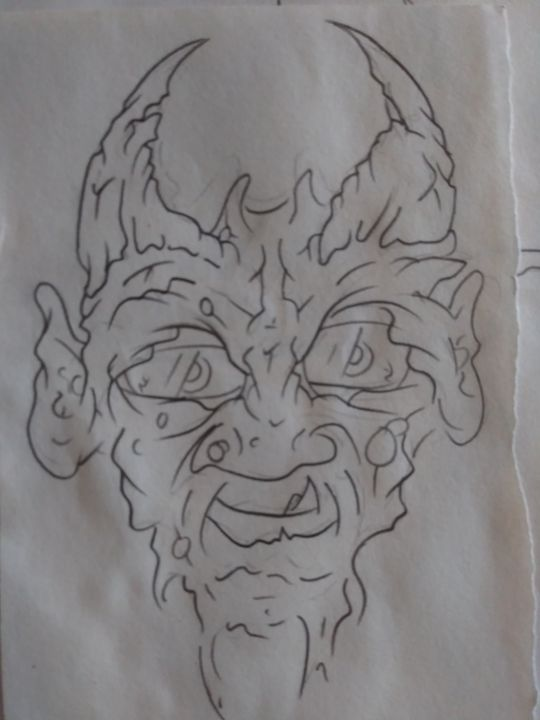 Old Man of Dark - Frankies drawings