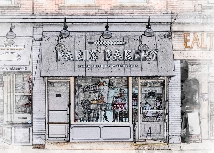 Paris Bakery - Carey Langsner Photography