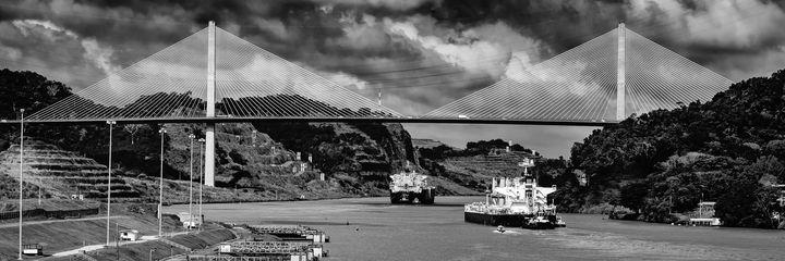 Bridge of the Americas B&W - Carey Langsner Photography