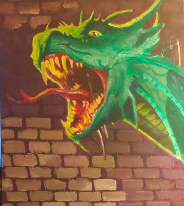 Dragon Tattoo Painting - James Draws