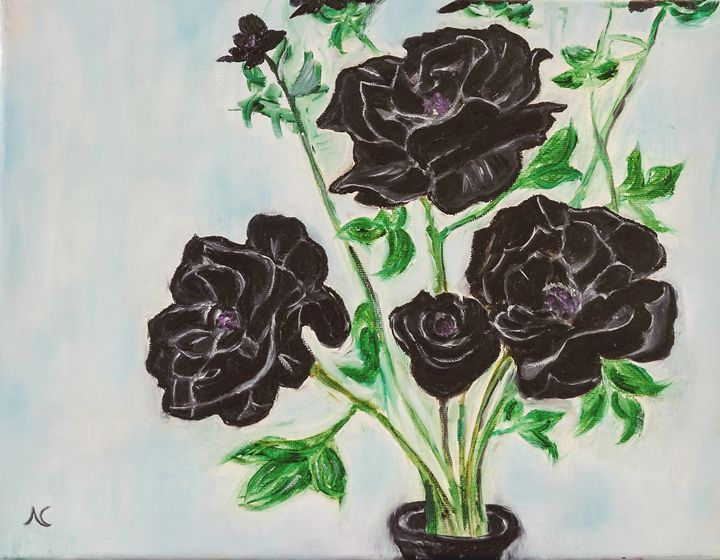 Black Rose - Fine Art by Nesli / Neslihan Ergul Colley