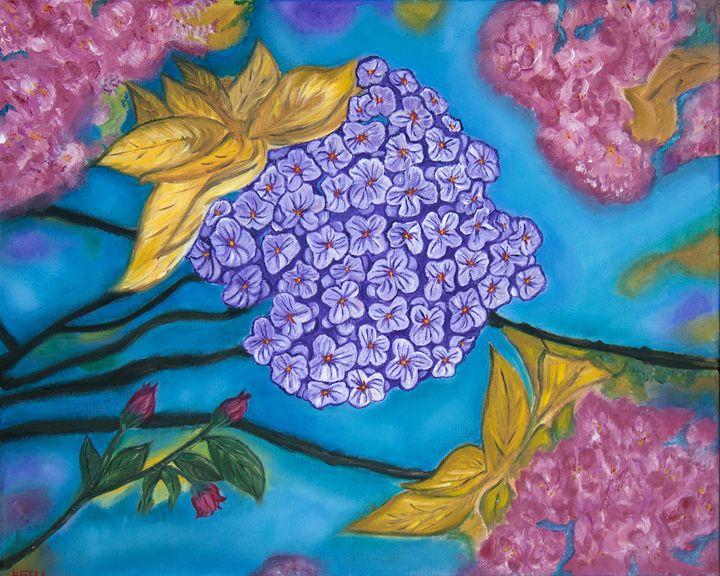 Into the Blue - Fine Art by Nesli / Neslihan Ergul Colley