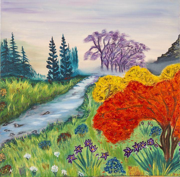 A Forest of Colors - Fine Art by Nesli / Neslihan Ergul Colley
