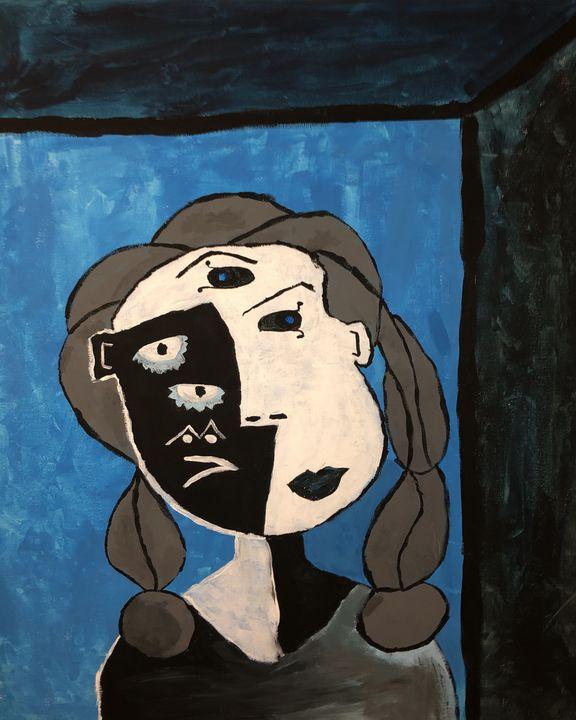 Happy In Blue - Penniless Artist