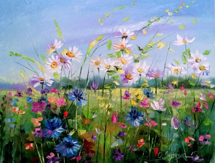 Flowers In The Field - Olha Darchuk