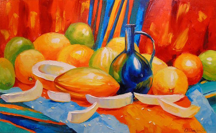 Still life with melon - Olha Darchuk