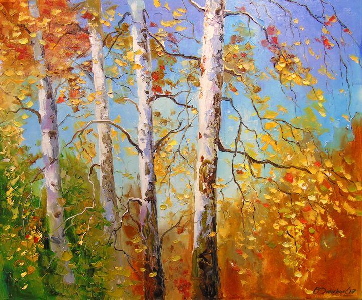 Autumn birches - Olha Darchuk